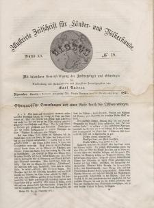 Globus. Illustrierte Zeitschrift für Länder...Bd. XX, Nr.18, 1871