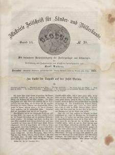 Globus. Illustrierte Zeitschrift für Länder...Bd. XX, Nr.20, 1871