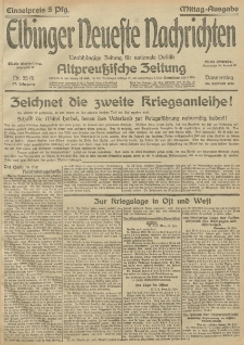 Elbinger Neueste Nachrichten, Nr.55 Donnerstag 25 Februar 1915 67. Jahrgang
