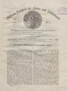 Globus. Illustrierte Zeitschrift für Länder...Bd. XLI, Nr.5, 1882