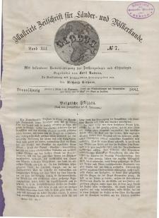 Globus. Illustrierte Zeitschrift für Länder...Bd. XLI, Nr.7, 1882