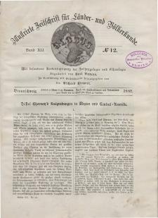 Globus. Illustrierte Zeitschrift für Länder...Bd. XLI, Nr.12, 1882