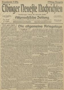 Elbinger Neueste Nachrichten, Nr.64 Sonnabend 6 März 1915 67. Jahrgang