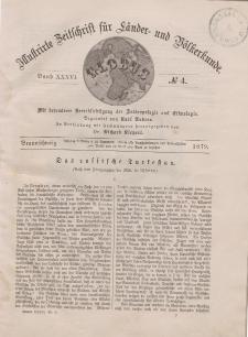 Globus. Illustrierte Zeitschrift für Länder...Bd. XXXVI, Nr.4, 1879