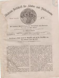 Globus. Illustrierte Zeitschrift für Länder...Bd. XXXVI, Nr.9, 1879