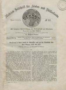 Globus. Illustrierte Zeitschrift für Länder...Bd. XXXVI, Nr.12, 1879