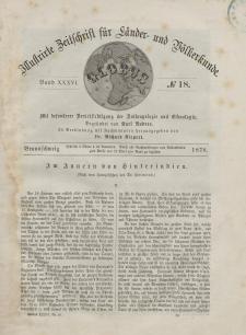 Globus. Illustrierte Zeitschrift für Länder...Bd. XXXVI, Nr.18, 1879