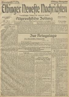 Elbinger Neueste Nachrichten, Nr.76 Donnerstag 18 März 1915 67. Jahrgang