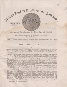 Globus. Illustrierte Zeitschrift für Länder...Bd. XXIII, Nr.22, 1873