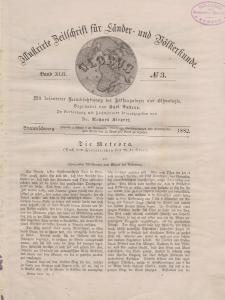 Globus. Illustrierte Zeitschrift für Länder...Bd. XLII, Nr.3, 1882