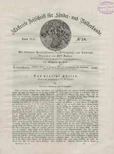 Globus. Illustrierte Zeitschrift für Länder...Bd. XLII, Nr.18, 1882