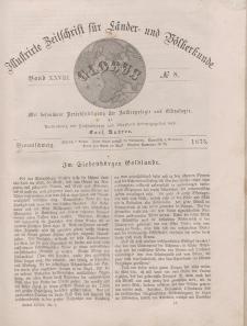 Globus. Illustrierte Zeitschrift für Länder...Bd. XXVIII, Nr.8, 1875