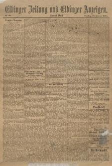 Elbinger Zeitung und Elbinger Anzeigen, Nr. 36 Dienstag 12. Februar 1895
