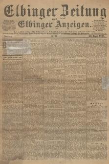 Elbinger Zeitung und Elbinger Anzeigen, Nr. 97 Freitag 26. April 1895