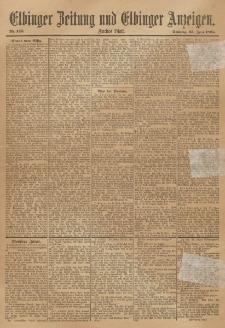 Elbinger Zeitung und Elbinger Anzeigen, Nr. 145 Sonntag 23. Juni 1895
