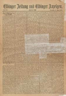 Elbinger Zeitung und Elbinger Anzeigen, Nr. 146 Dienstag 25. Juni 1895