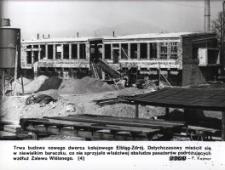 Budowa dworca kolejowego Elbląg-Zdrój