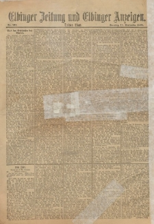 Elbinger Zeitung und Elbinger Anzeigen, Nr. 217 Sonntag 15. August 1895