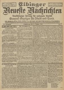 Elbinger Neueste Nachrichten, Nr. 2 Donnerstag 4 Januar 1912 64. Jahrgang