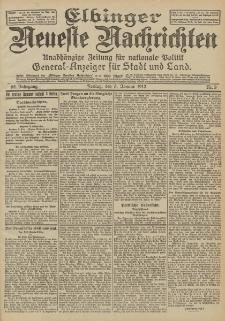 Elbinger Neueste Nachrichten, Nr. 3 Freitag 5 Januar 1912 64. Jahrgang