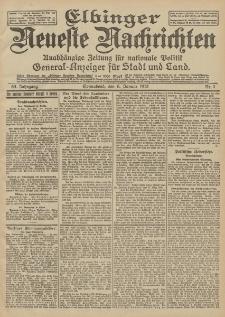 Elbinger Neueste Nachrichten, Nr. 4 Sonnabend 6 Januar 1912 64. Jahrgang