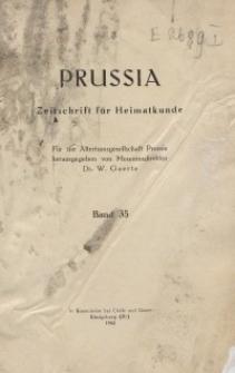 Prussia : Zeitschrift für Heimatkunde, Bd. 35, 1943