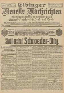 Elbinger Neueste Nachrichten, Nr. 7 Mittwoch 10 Januar 1912 64. Jahrgang