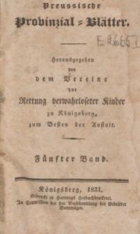 Preussische Provinzial-Blätter, Bd. V, 1831