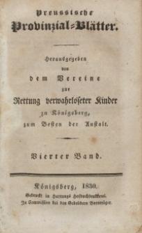 Preussische Provinzial-Blätter, Bd. IV, 1830