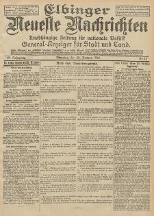 Elbinger Neueste Nachrichten, Nr. 12 Dienstag 16 Januar 1912 64. Jahrgang