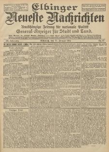 Elbinger Neueste Nachrichten, Nr. 13 Mittwoch 17 Januar 1912 64. Jahrgang