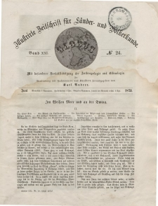 Globus. Illustrierte Zeitschrift für Länder...Bd. XXI, Nr.24, Juni 1872