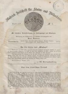 Globus. Illustrierte Zeitschrift für Länder...Bd. XXV, Nr.1, 1874