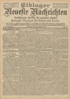 Elbinger Neueste Nachrichten, Nr. 14 Donnerstag 18 Januar 1912 64. Jahrgang