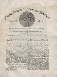 Globus. Illustrierte Zeitschrift für Länder...Bd. XXV, Nr.5, 1874