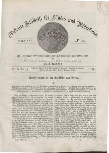 Globus. Illustrierte Zeitschrift für Länder...Bd. XXV, Nr.14, 1874