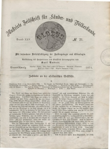 Globus. Illustrierte Zeitschrift für Länder...Bd. XXV, Nr.21, 1874