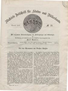 Globus. Illustrierte Zeitschrift für Länder...Bd. XXV, Nr.23, 1874