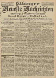 Elbinger Neueste Nachrichten, Nr. 17 Sonntag 21 Januar 1912 64. Jahrgang