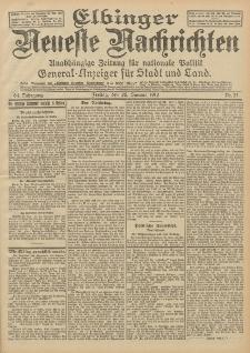 Elbinger Neueste Nachrichten, Nr. 21 Freitag 26 Januar 1912 64. Jahrgang
