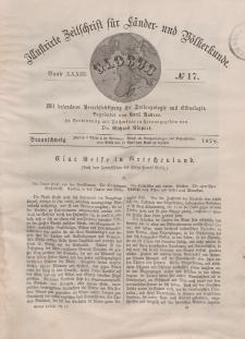 Globus. Illustrierte Zeitschrift für Länder...Bd. XXXIII, Nr.17, 1878