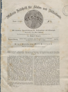 Globus. Illustrierte Zeitschrift für Länder...Bd. XXXV, Nr.1, 1879