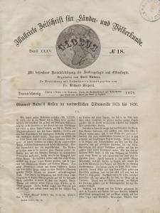 Globus. Illustrierte Zeitschrift für Länder...Bd. XXXV, Nr.18, 1879