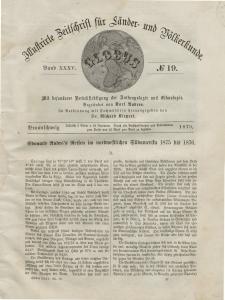 Globus. Illustrierte Zeitschrift für Länder...Bd. XXXV, Nr.19, 1879