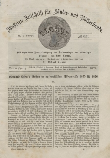 Globus. Illustrierte Zeitschrift für Länder...Bd. XXXV, Nr.21, 1879