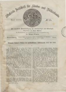 Globus. Illustrierte Zeitschrift für Länder...Bd. XXXVII, Nr.15, 1880