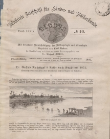 Globus. Illustrierte Zeitschrift für Länder...Bd. XXXIX, Nr.16, 1881