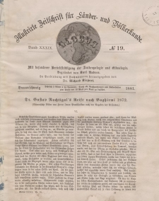 Globus. Illustrierte Zeitschrift für Länder...Bd. XXXIX, Nr.19, 1881