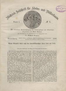 Globus. Illustrierte Zeitschrift für Länder...Bd. L, Nr.1, 1886