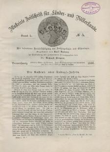 Globus. Illustrierte Zeitschrift für Länder...Bd. L, Nr.5, 1886